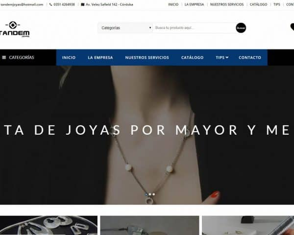 Tandem Joyas Diseño Web Tradeweb Agencia de Diseño de Paginas Web Córdoba