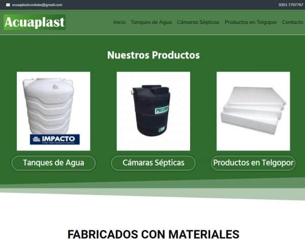 Acuaplast Córdoba Agencia de Diseño Web Tradeweb