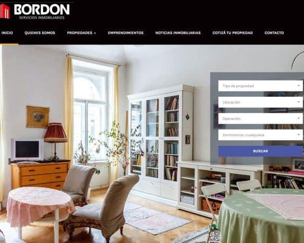 Bordon Propiedades. Plan Diseño Web Inmobiliarias