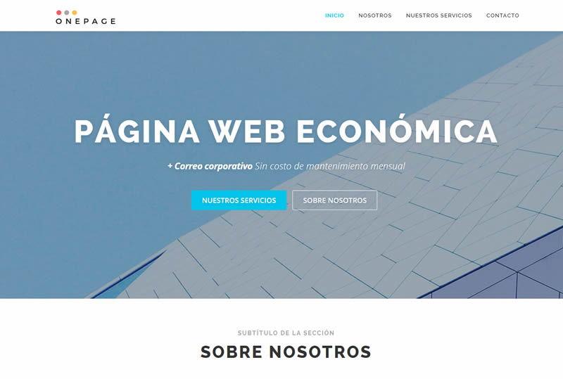 demo pagina web economica