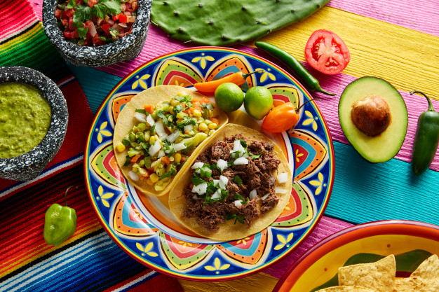 platillo mexicano tacos barbacoa vegetariana